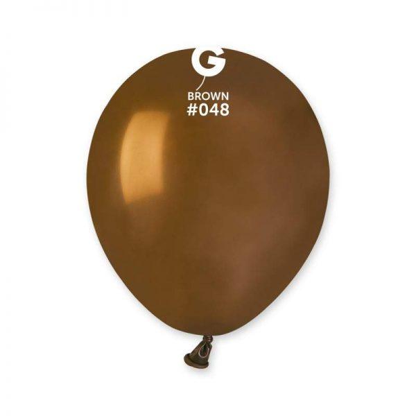 """5"""" Καφέ λάτεξ μπαλόνι"""