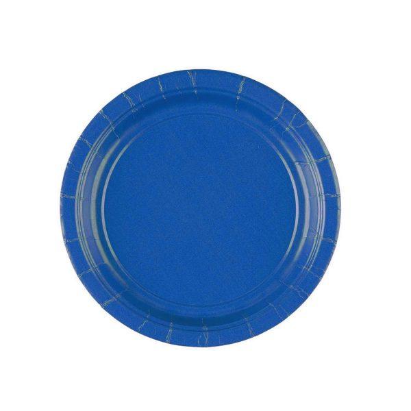 Πιάτα πάρτυ μικρά μπλε ρουά (20 τεμ)