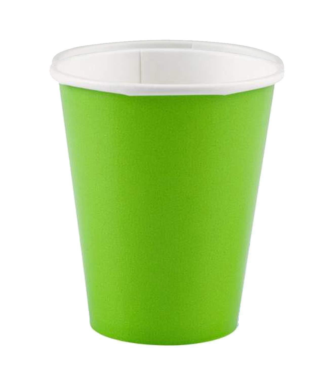 Ποτήρια πάρτυ χάρτινα λαχανί (8 τεμ)