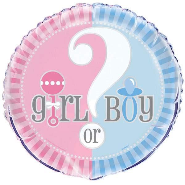 Μπαλόνι γέννησης Girl or Boy 45 εκ