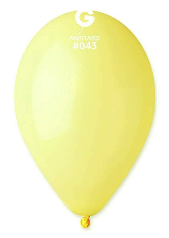 """13"""" Κίτρινο Μουσταρδί λάτεξ μπαλόνι"""