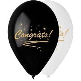 """12"""" Μπαλόνι τυπωμένο Congrats!"""