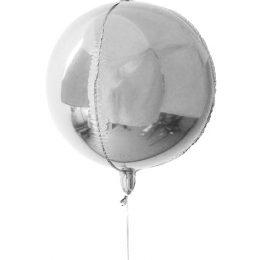 Μπαλόνι τρισδιάστατο Ασημί σφαίρα