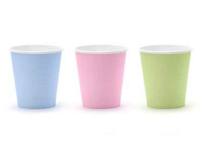 Ποτήρια πάρτυ παστέλ χρώματα (6 τεμ)