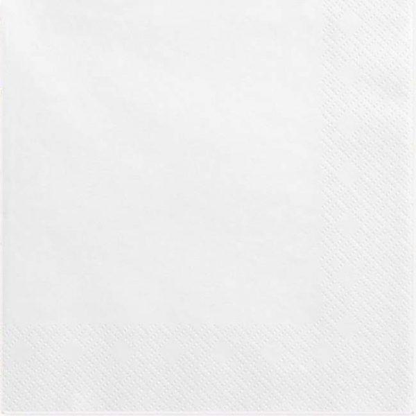 Χαρτοπετσέτες λευκές (20 τεμ)