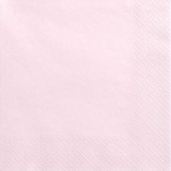 Χαρτοπετσέτες ροζ της πούδρας (20 τεμ)