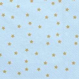 Χαρτοπετσέτες γαλάζιο με αστεράκια(20 τεμ)