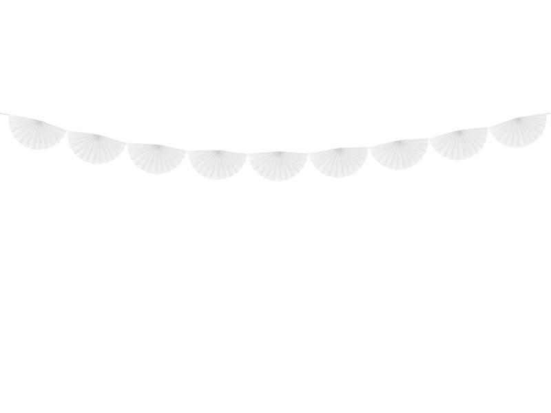 Διακοσμητική γιρλάντα με λευκές ροζέτες