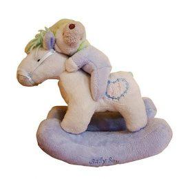 Γαλάζιο αρκουδάκι σε κουνιστό αλογάκι