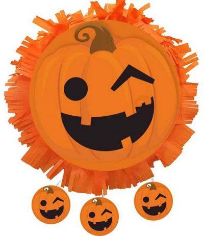 Χειροποίητη μεγάλη Πινιάτα Halloween Κολοκύθα