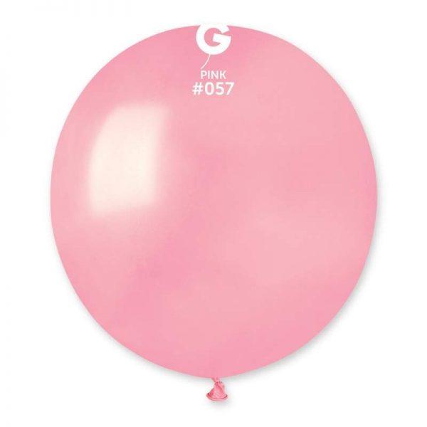 48cm - 19'' Ροζ μεγάλο μπαλόνι