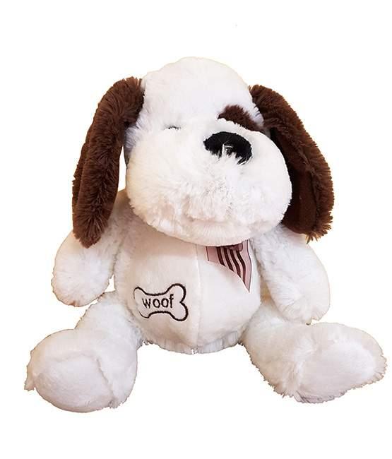 Χνουδωτό άσπρο Σκυλάκι Woof