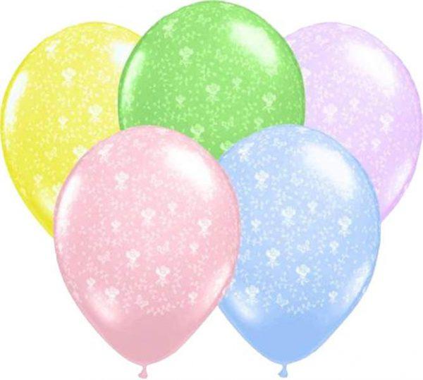 """12"""" Μπαλόνι τυπωμένο Λουλούδια"""