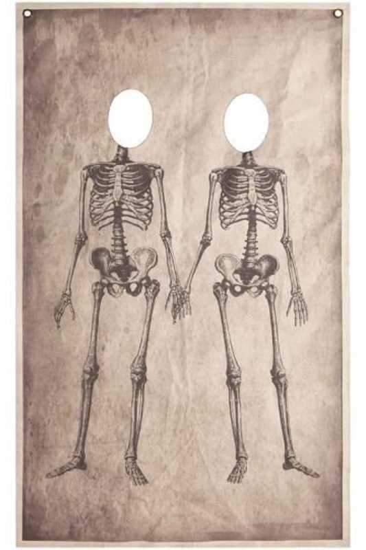 Αφίσα πάρτυ για φωτογράφιση Halloween σκελετοί