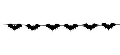 Διακοσμητική γιρλάντα κοπτικών Halloween Ντυχτερίδες (6 τεμ)