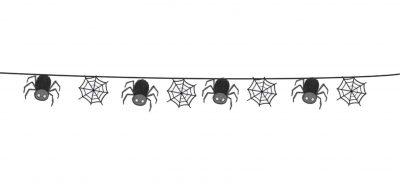 Διακοσμητική γιρλάντα κοπτικών Halloween Αράχνες (6 τεμ)