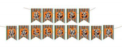 Διακοσμητικά σημαιάκια Happy Halloween (14 τεμ)
