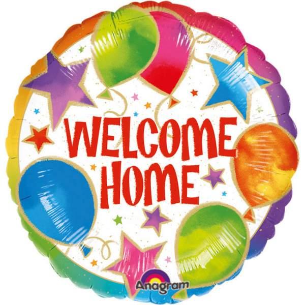 """Μπαλόνι """"Welcome Home"""" αστεράκια 45 εκ"""