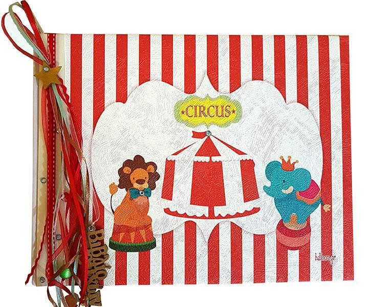 Χειροποίητο Βιβλίο Ευχών Circus