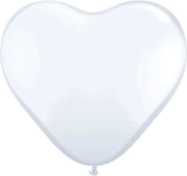 """12"""" Μπαλόνι καρδιά λευκή"""