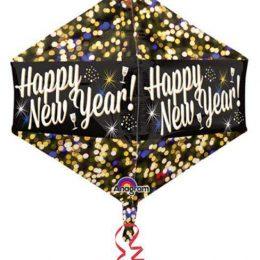 Μπαλόνι 3D διαμάντι Happy New Year 53 εκ