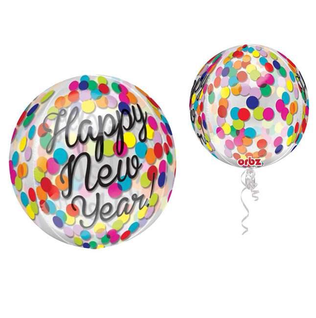 Μπαλόνι χριστουγεννιάτικο κονφετί 'Happy New Year' ORBZ