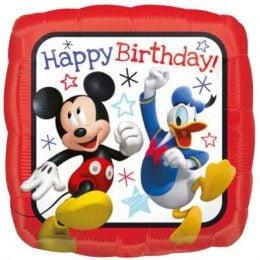 Μπαλόνι τετράγωνο για γενέθλια Mickey & Donald