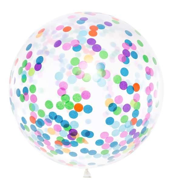 """36"""" Τεράστιο μπαλόνι γεμισμένο με πολύχρωμο κονφετί"""