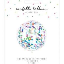 36″ Τεράστιο μπαλόνι γεμισμένο με πολύχρωμο κονφετί