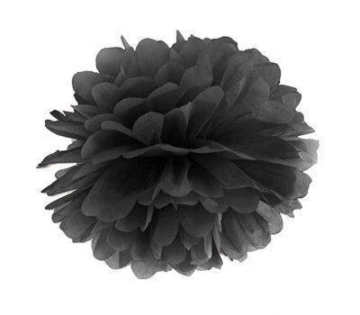 Μαύρο χάρτινο pom pom
