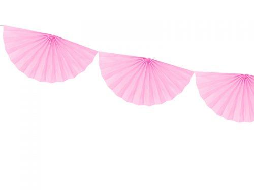 Διακοσμητική γιρλάντα με ροζ ροζέτες