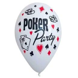 """12"""" Μπαλόνι τυπωμένο Poker Party"""