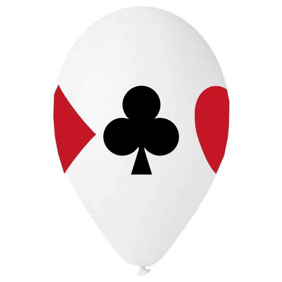 """12"""" Μπαλόνι τυπωμένο Τραπουλόχαρτα"""
