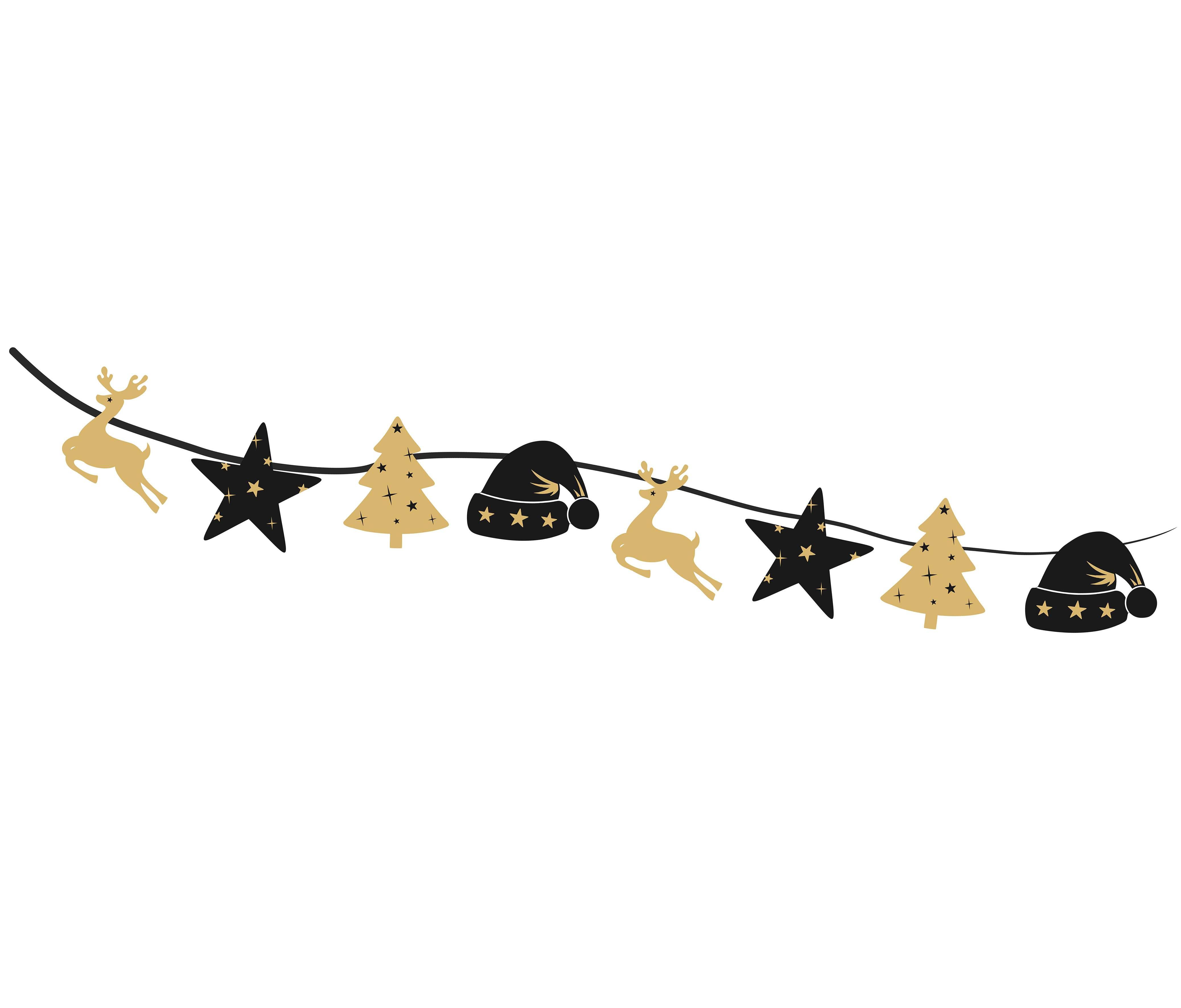 Διακοσμητική γιρλάντα κοπτικών happy new year
