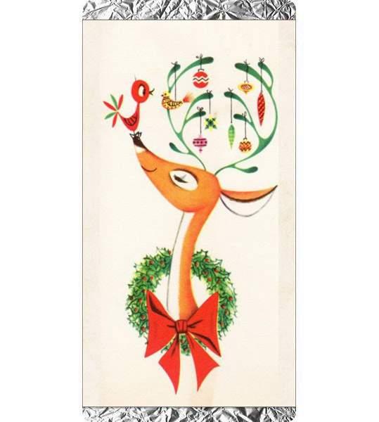 Χριστουγεννιάτικη σοκολάτα Ταρανδάκι με στολίδια