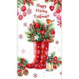 Χριστουγεννιάτικη σοκολάτα γαλότσες & στολίδια