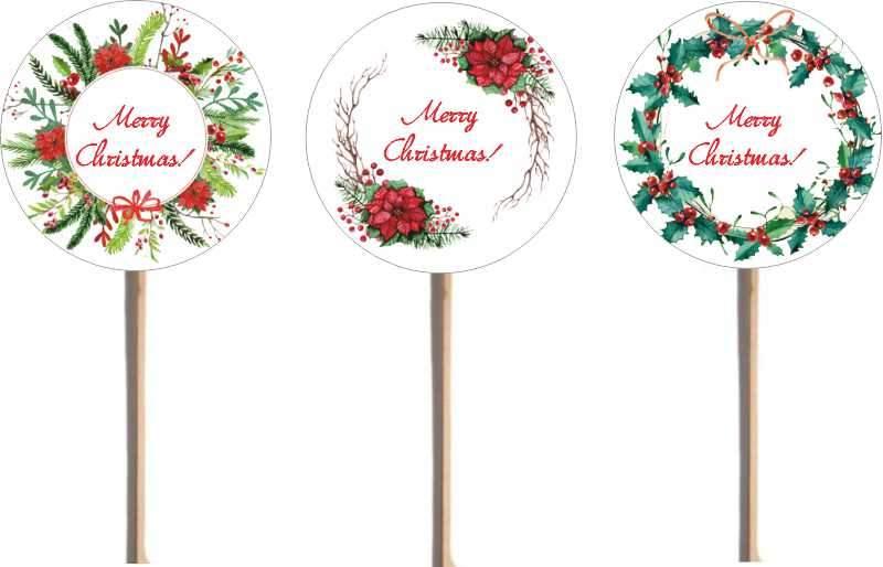 Στικάκια φαγητού Merry Christmas (8 τεμ)