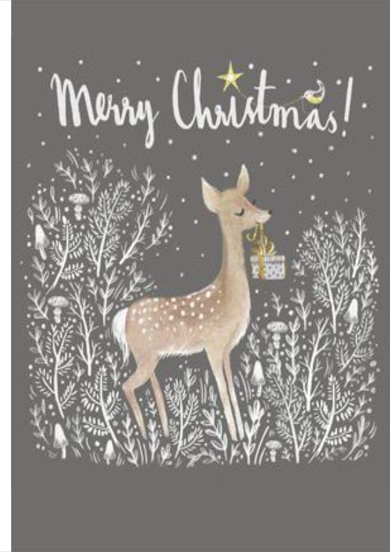 Χριστουγεννιάτικη κάρτα γλυκό ελαφάκι