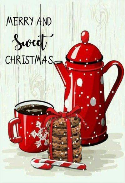 Χριστουγεννιάτικη κάρτα merry & sweet Christmas