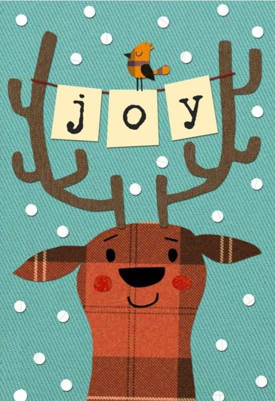 Χριστουγεννιάτικη κάρτα Τάρανδος joy