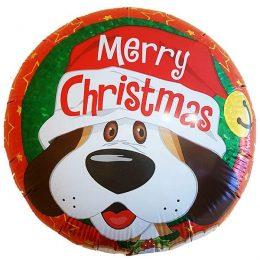 Μπαλόνι Merry Christmas σκυλάκι 45 εκ
