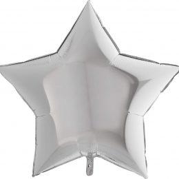 Μπαλόνι ασημί αστέρι 36″