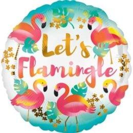 Μπαλόνι στρογγυλό Let's Flamingle 45 εκ