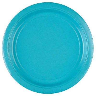 Πιάτα πάρτυ μεγάλα γαλάζιο Καραϊβικής (8 τεμ)