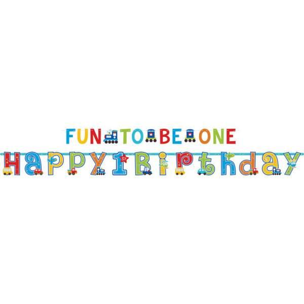 Διακοσμητικά μπάνερ 1st Birthday boy 3,5μ (2 τεμ)