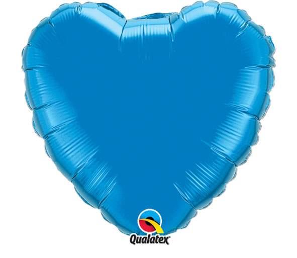 """Μπαλόνι καρδια 18"""" Μπλε ζαφειριού"""