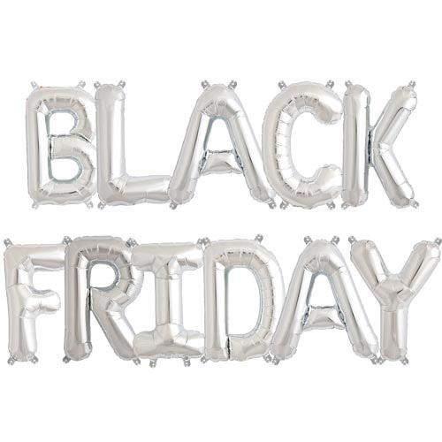 Μπαλόνι Ασημί Black Friday (11 τεμ)