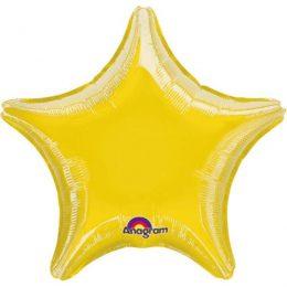 Μπαλόνι κίτρινο μεταλλικό αστέρι 18″
