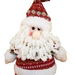 Χνουδωτό Αρκουδάκι με σκουφάκι & κασκόλ ''Merry Christmas''