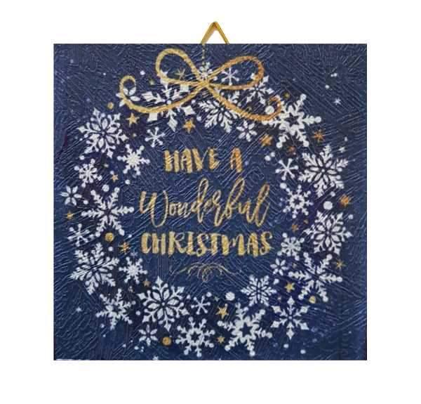 Χριστουγεννιάτικο Καδράκι Have a wonderful Xmas
